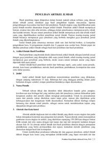 Pdf Penulisan Artikel Ilmiah Hasil Penelitian Tindakan Kelas