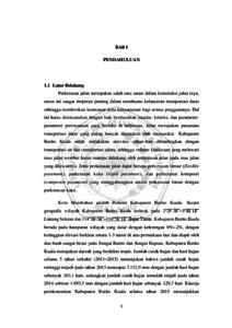 Perencanaan Perkerasan Lentur Pada Ruas Jalan Jenderal Sudirman Kota Marabahan Kabupaten Barito Kuala Provinsi Kalimantan Selatan Umm Institutional Repository